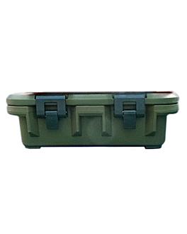caja isotÉrmica gastronorm 1/1 25 l 64x44x26 cm verde plÁstico (1 unid.)