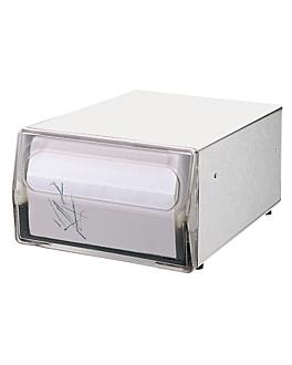 dispenser master 200 servilletas 1 salida 29,5x20,3x12 cm plateado inox (1 unid.)