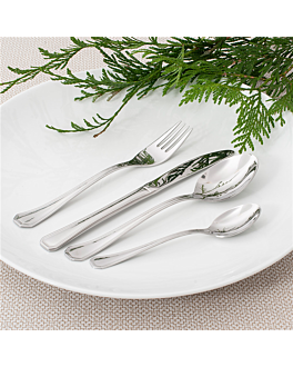 dessert forks 'coral' 15 cm silver steel (12 unit)
