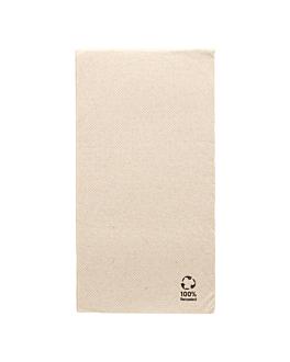 servilletas ecolabel p. 1/6 'double point' 19 g/m2 30x40 cm natural tissue reciclado (1800 unid.)