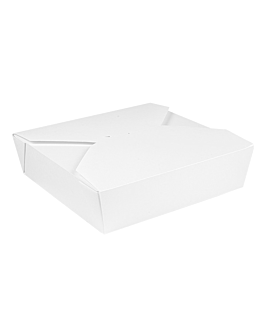 microwavable boxes rectangular 'thepack' 2910 ml 250 + 12pp gsm 21,7x21,7x6 cm white nano-micro corrugated cardboard (100 unit)