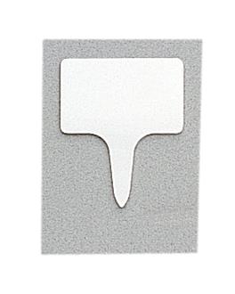 10 u. rectangular price tags 4,6x5,5x0,1 cm white pvc (1 unit)