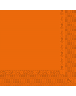 serviettes ecolabel 2 plis 18 g/m2 39x39 cm orange ouate (1600 unitÉ)