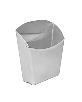 fry boxes s 12x5x12 cm silver stainless steel (12 unit)