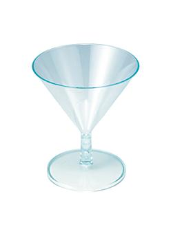 copas inyectadas 'mini martini' 65 ml Ø 7x8,1 cm verde agua ps (144 unid.)