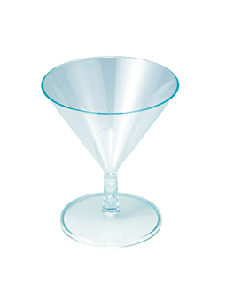 injected cups 'mini martini' 65 ml Ø 7x8,1 cm sea green ps (144 unit)