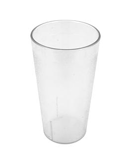 gobelets empilables 460 ml Ø 7,9x14,7 cm transparent polycarbonate (12 unitÉ)