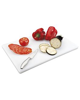chopping board 60,5x45,5x2 cm white pehd (1 unit)