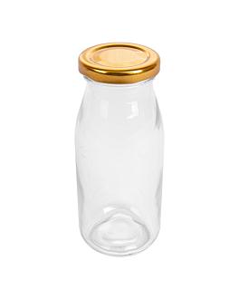 jug with lid 265 ml Ø 6x13,5 cm clear glass (48 unit)