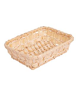 basket imitation wicker rectangular 18x14x5 cm natural pp (1 unit)