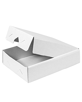 boxes for trays 19x28x6 cm white cardboard (25 unit)