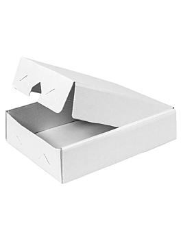 boÎtes pour plateaux 19x28x6 cm blanc carton (25 unitÉ)