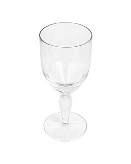 verres À pied À eau 340 ml Ø 7,9x18,3 cm transparent polycarbonate (72 unitÉ)