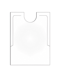 adult bibs 38,3x48 cm white pehd (500 unit)