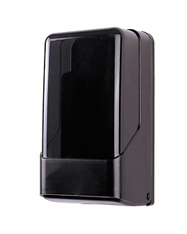 dispenser for toilet paper in sheets 15,6x13,8x28,3 cm black/smoked abs (1 unit)