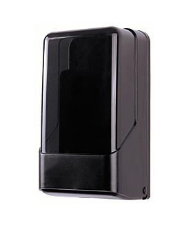 dispensador papel higiÉnico intercalado 15,6x13,8x28,3 cm negro/ahumado abs (1 unid.)