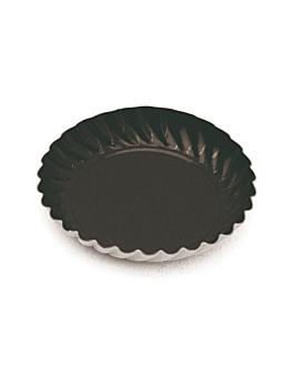 mini platos 325 g/m2 Ø 5,5 cm negro cartÓn (100 unid.)