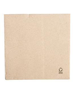 servilletas ecolabel 2 capas 'double point' 19 g/m2 30x30 cm natural tissue reciclado (1800 unid.)