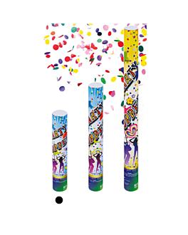 12 tubos confetti shooter 30 (h) cm surtido (1 unid.)