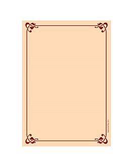 250 u. inner sheets menu cards din-a4 90 gsm 21x29,7 cm salmon pink litos (1 unit)