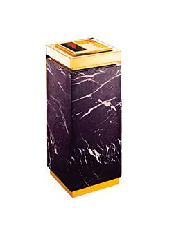 cenicero & papelera de lujo 30x30x67,5 cm dorado (1 unid.)