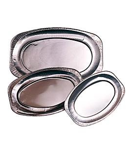 plateaux ovales 35,1x24,3x2 cm aluminium (100 unitÉ)