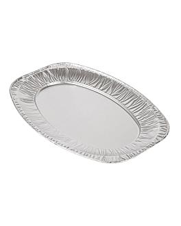 bandejas ovales 35,1x24,3x2 cm aluminio (100 unid.)