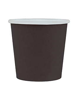pequeÑas tarrinas 90 ml 210 + 18 pe g/m2 Ø6,15/4,55x5,8 cm negro cartoncillo (1000 unid.)