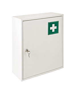 first aid cabinet 36x15x45 cm white steel (1 unit)