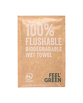 rince-doigts flushable kraft 'feel green' 50 g/m2 6,8x10 cm blanc cellulose (1200 unitÉ)