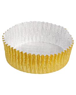pirottini milano 'petits fours' Ø 3,9x1,3 cm oro alluminio (1500 unitÀ)