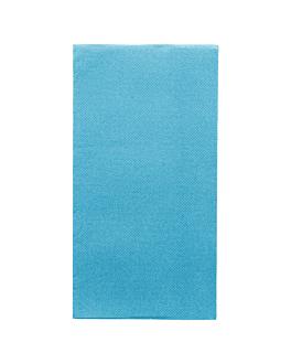 servilletas ecolabel p. 1/8 'double point' 18 g/m2 40x40 cm turquesa tissue (1200 unid.)