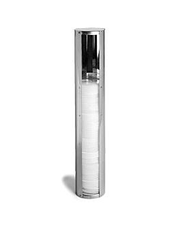 dispensador de tampas atÉ Ø 10,1 cm 11,2x59 cm cromado inox (1 unidade)
