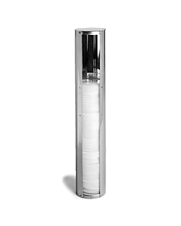 dispensador tapas hasta Ø 10,1 cm 11,2x59 cm cromado inox (1 unid.)