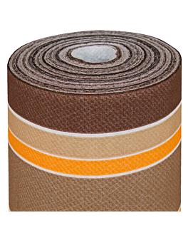 nappe en rouleau 'bayadÈres' 55 g/m2 1,20x50 m marron airlaid (1 unitÉ)