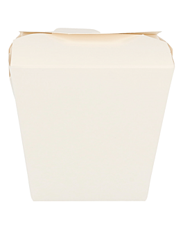 oriental food containers 330 + 18pe gsm 8x7x10,5 cm white cardboard (50 unit)