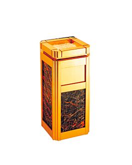 cenicero & papelera de lujo 30x30x68,5 cm dorado (1 unid.)