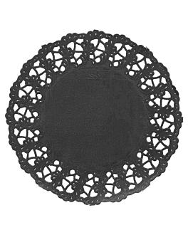 dentelles rondes ajourÉes 40 g/m2 Ø 11,5 cm noir papier (250 unitÉ)