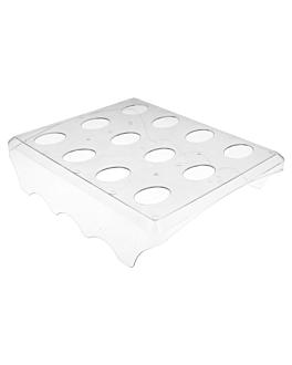 bandejas 12 conos 24x20x5,8 cm transparente ps (24 unid.)