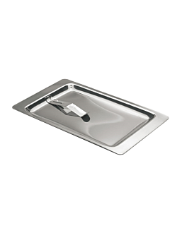 bill tray 21,5x13,5 cm silver stainless steel (1 unit)