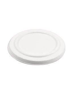 lids for item 228.86 'bionic' Ø 12x1,2 cm white bagasse (500 unit)