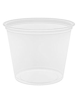 small microwavable containers 165 ml Ø7,4x6 cm clear pp (2500 unit)