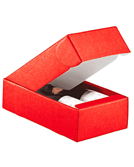 30 u. estuches 2 botellas 34x18,5x9 cm rojo cartÓn (30 unid.)