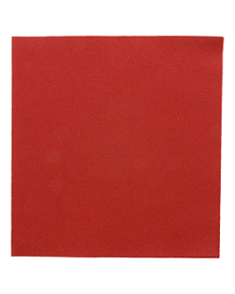 serviettes 55 g/m2 40x40 cm bordeaux dry tissue (700 unitÉ)