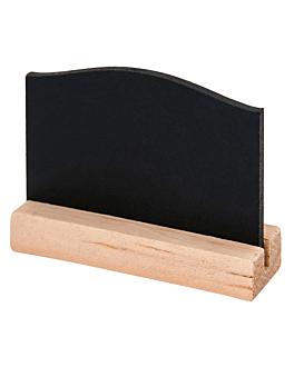 4 u. mini blackboards + base 7,5x5 cm black wood (1 unit)