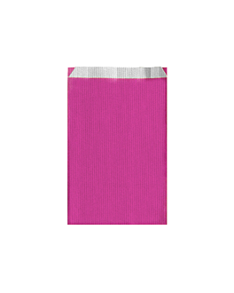 flat bags one-colour 60 gsm 12+5x18 cm fuchsia cellulose (250 unit)