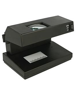 euro counterfeit note detector ac220-240v 18,5x12 cm black plastic (1 unit)