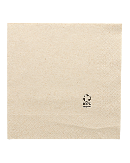 ecolabel napkins 2 ply 'paper pack' 18 gsm 33x33 cm natural recycled tissue (2400 unit)