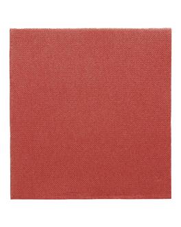 serviettes ecolabel 'double point' 18 g/m2 33x33 cm bordeaux ouate (1200 unitÉ)