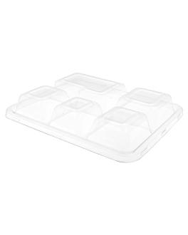 lids for trays 221.92 'bionic' 27x22x3,6 cm clear pet (250 unit)